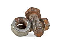 Close-up Of Rusty Nut And Bolt...