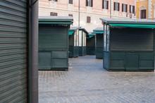Closed Stall Shop In Urban Str...