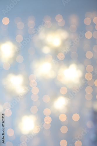 Fototapety, obrazy: Defocused abstract multicolored bokeh lights background.