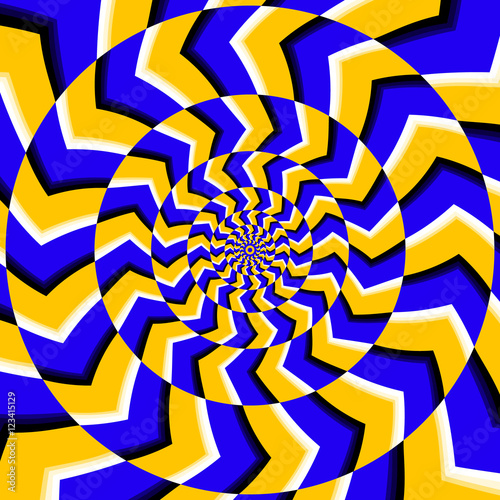Psychedelic optical spin illusion vector background