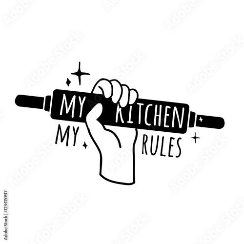 Fotografia Motivational poster for the kitchen