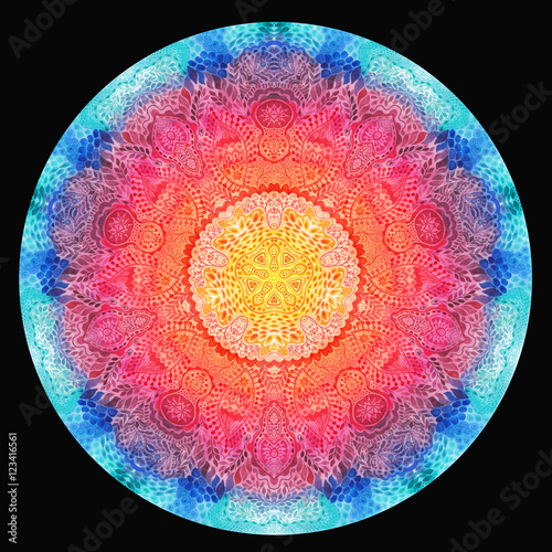 Watercolor mandala. Decor for your design Canvas Print