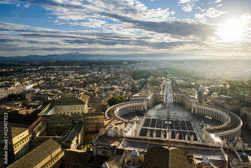 Photo Rome - view from San Pietro Basilica dome.