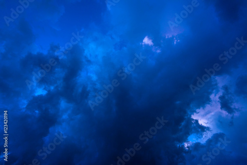 Deurstickers Nacht Background of dark clouds before a thunder-storm