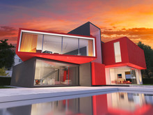 Modern Red House