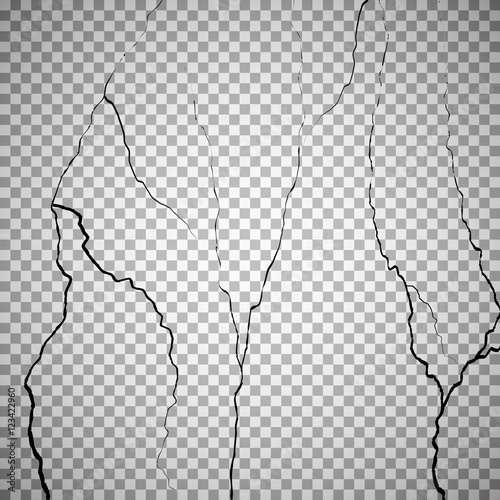 Fotografía  Wall cracks on checkered background