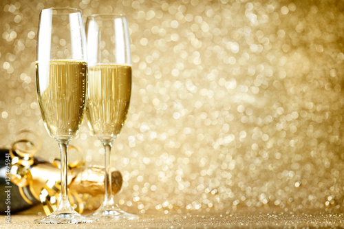 New Years Eve celebration Canvas Print