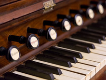Close-up Of Antique Reed Organ...