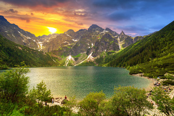 Fototapeta Do hotelu Eye of the Sea lake in Tatra mountains, Poland