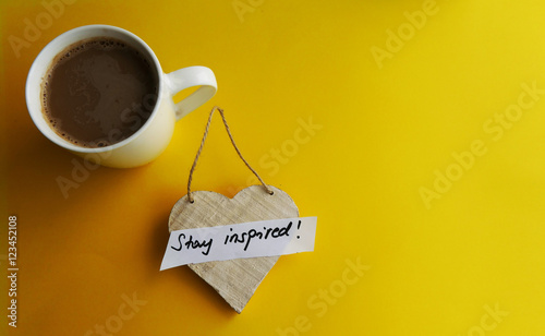 Photo  Stay inspired motivational background