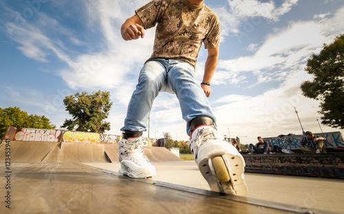 Fotografia Roller riding in the park