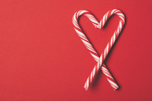 Candy Cane Heart Background