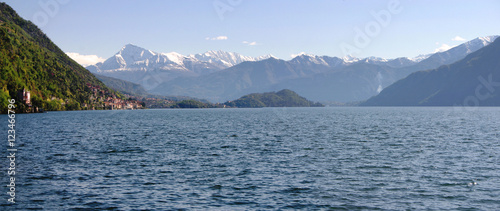 Monte Legnone and Lake Como from Argegno Wallpaper Mural