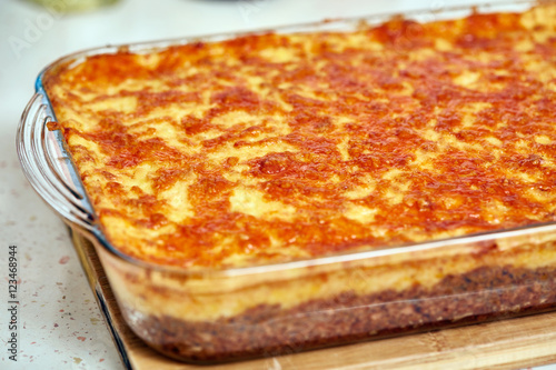 Cottage pie in a casserole