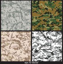 Seamless Digital Camouflage Pa...