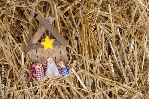 Fotografie, Obraz  Child's manger in the Hay