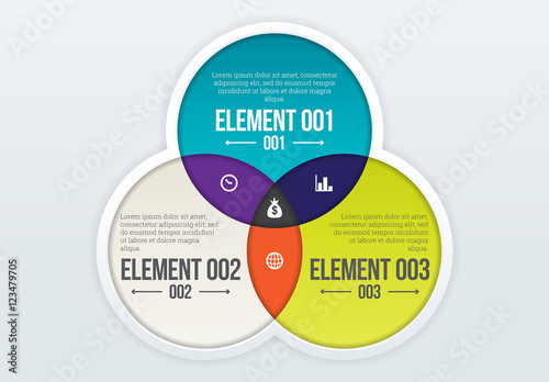 Three Circle Venn Diagram Infographic Buy This Stock Template And