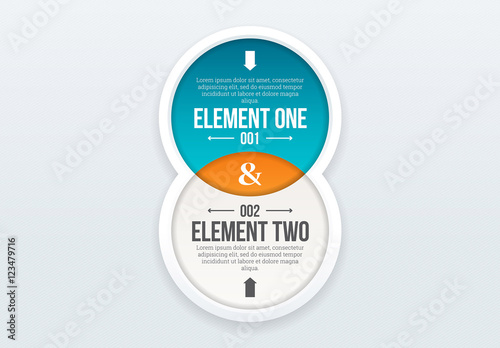 Two Circle Venn Diagram Infographic Buy This Stock Template And