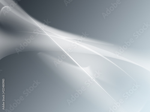 Fotobehang Fractal waves Soft Silver Clean abstract background