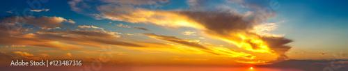 Photo  Sunset panorama