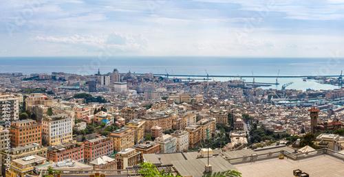Deurstickers Canarische Eilanden Port of Genoa in Italy