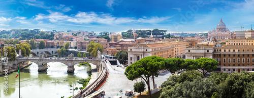 Foto op Aluminium Rome Rome and Basilica of St. Peter in Vatican