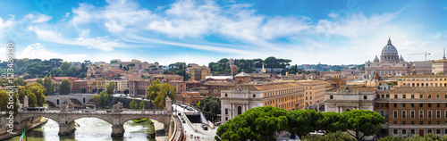 Canvas Print Rome and Basilica of St. Peter in Vatican