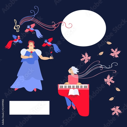 The singer and accompanist Wallpaper Mural