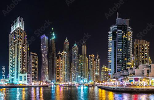 Fototapeta Panorama Dubaj marina