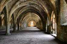 Inside Fountains Abbey