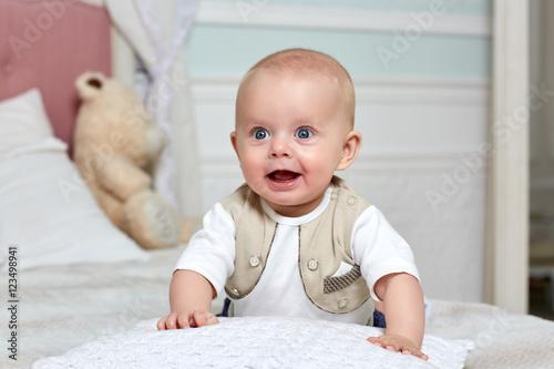 Fotografie, Obraz  Happy baby boy