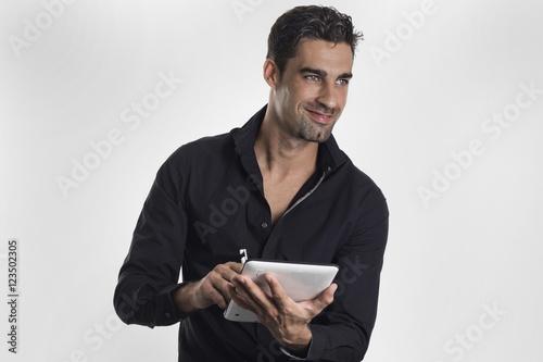 Fotografie, Obraz  Hombre joven de negocios