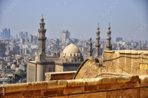 View on religious muslim mecca in city