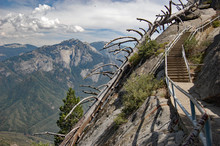 Stairway To The Clouds. Hiking...