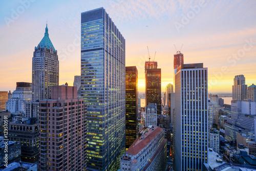 Foto op Aluminium New York New York Skyline at Sunset