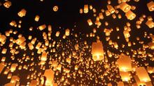 Floating Lanterns Ceremony Or ...