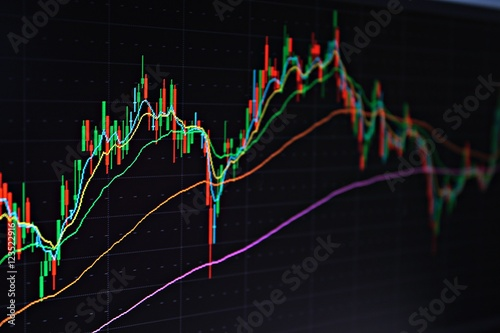 Business or finance background : Display of stock market