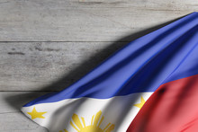 Republic Of The Philippines Flag Waving