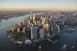USA, New York, Aerial photograph of New York City and Manhattan Island