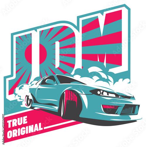 Zdjęcie XXL Burnout car, Japanese drift sport, JDM,
