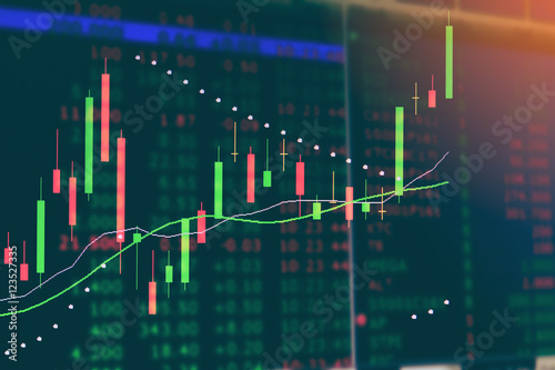 Display of stock market LED Business finance background