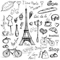 Fototapeta Paris symbols.