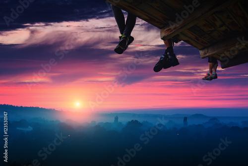 Obraz na plátně  Magic pink sunrise 1