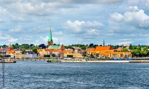 View of Helsingor or Elsinore from Oresund strait - Denmark Wallpaper Mural