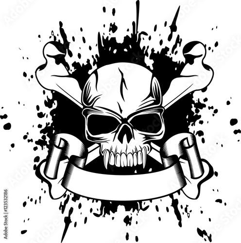 Photo  skull and crossed bones