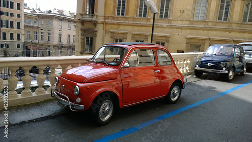 Deurstickers Oude auto s Old cars in Genoa