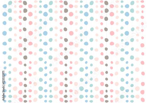 Plakat Śliczne pastelowe kropki wzór tekstury; grafika dekoracyjna na tapetę i tło