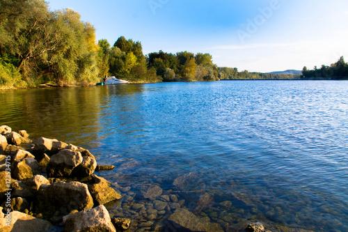 Fotobehang Oceanië Rhein bei Sasbach