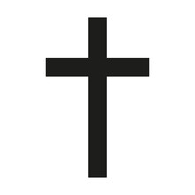 Latin Cross Icon Black Silhoue...