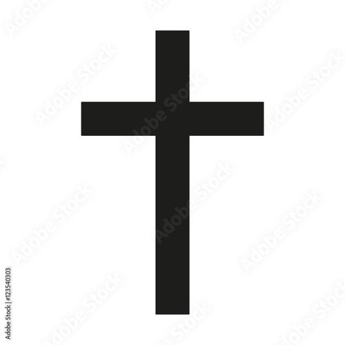 Fotografía Latin Cross Icon black silhouette